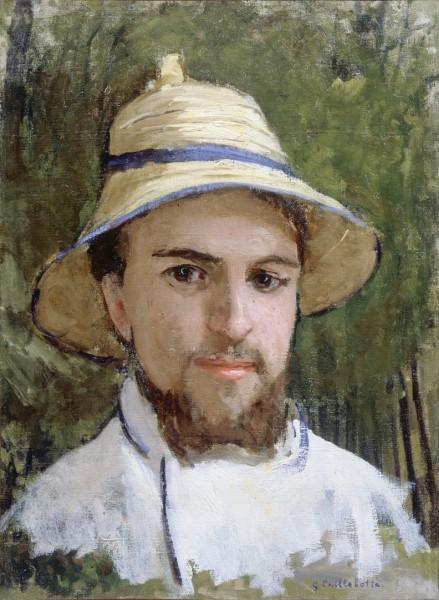 Gustave Caillebotte, Autoportrait au chapeau d'été, Huile sur toile, Collection Particulière © Comité Caillebotte, Paris