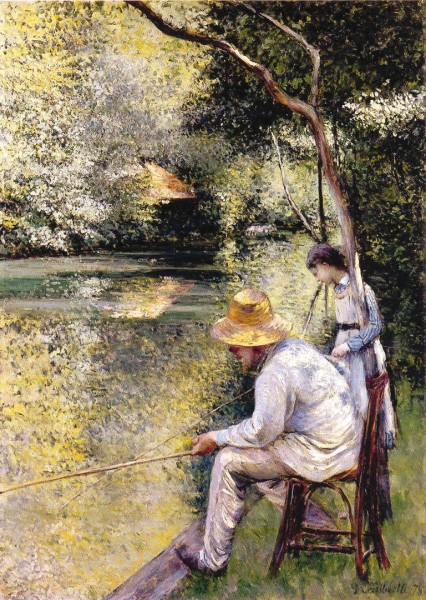« Pêche à la ligne » Gustave Caillebotte, 1878