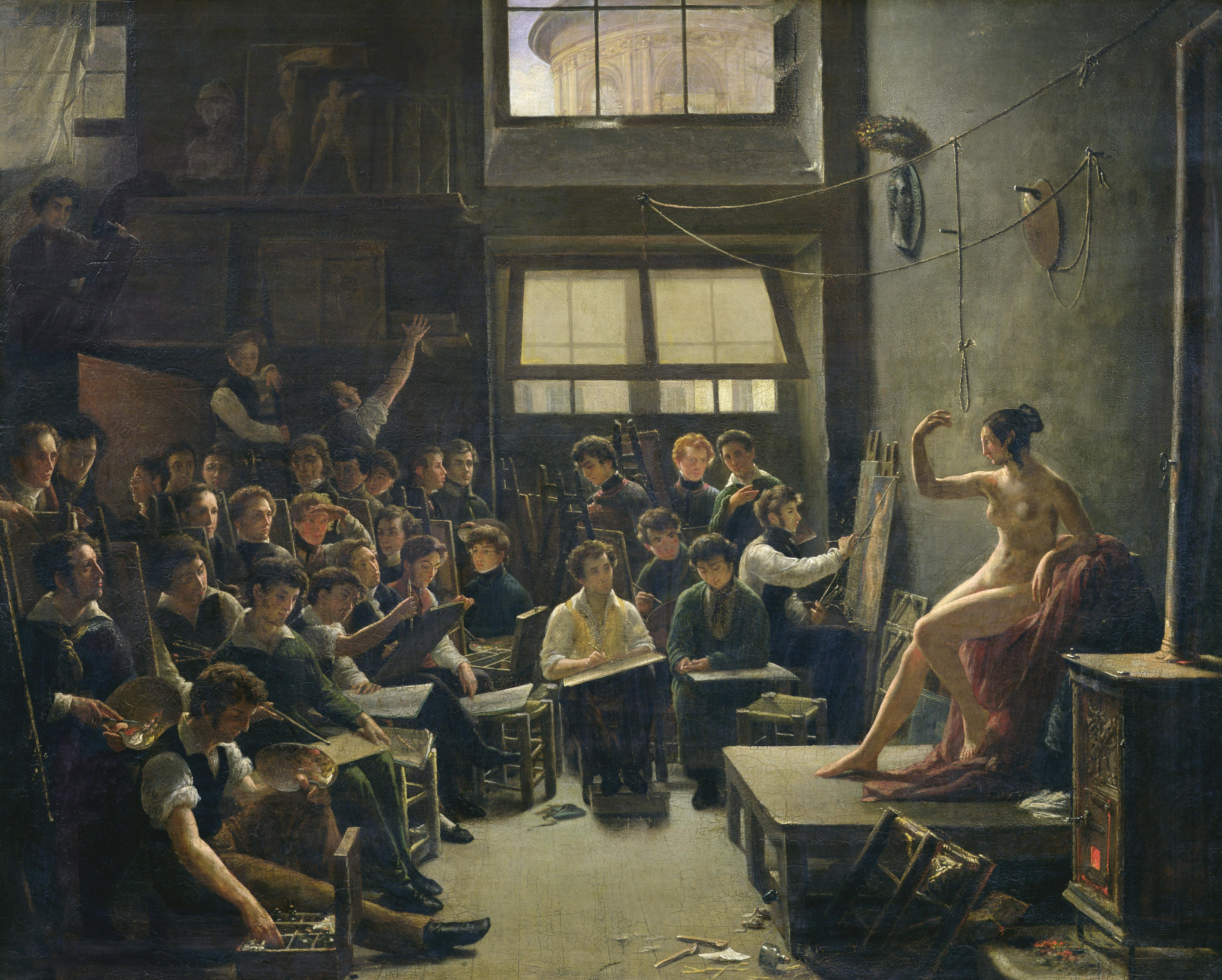 Intérieur de l'atelier de Gros, Auguste Antoine Massé